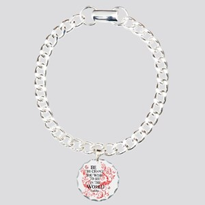 Be the Change - Red Vine Charm Bracelet, One Charm
