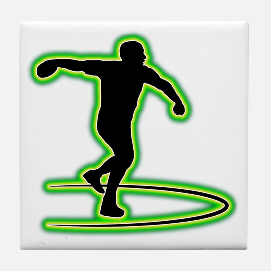 Discus-Throwing-AC Tile Coaster