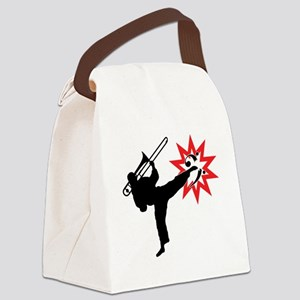 Karate and Music together in one  Canvas Lunch Bag