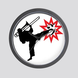 Karate and Music together in one image! Wall Clock
