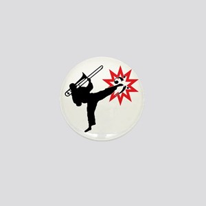 Karate and Music together in one image Mini Button