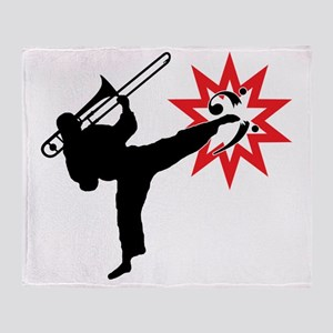 Karate and Music together in one ima Throw Blanket
