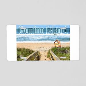 Camino Island Aluminum License Plate