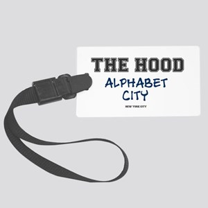 THE HOOD - ALPHABET CITY - NEW Y Large Luggage Tag