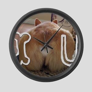 Corgi Love Large Wall Clock