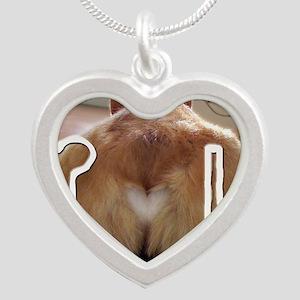 Corgi Love Silver Heart Necklace