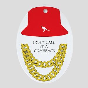 Don't Call It A Comeback Oval Ornament