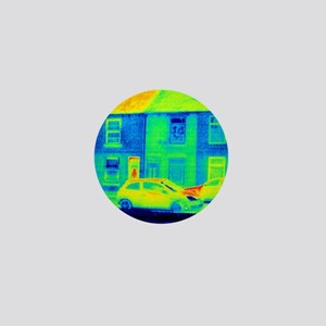 Houses and road, thermogram Mini Button