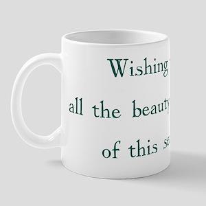 Holiday greeting card inside Mug