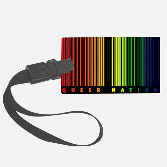 Queer Nation Bar Code Luggage Tag