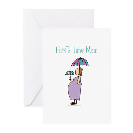 1st time mom Greeting Cards (Pk of 10)
