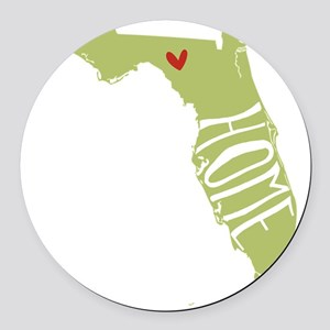 Florida Home Round Car Magnet