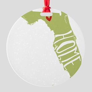 Florida Home Round Ornament