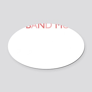 Big Band Music Oval Car Magnet