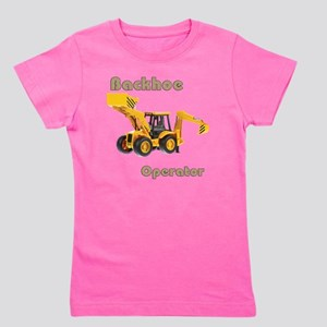 Back Hoe Girl's Tee