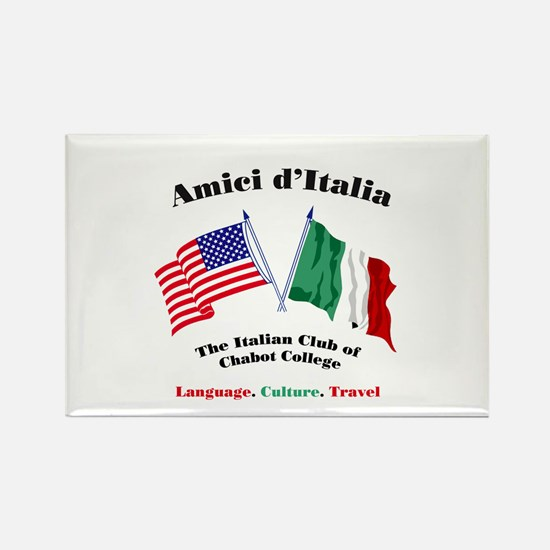 Cute Italian american flag Rectangle Magnet