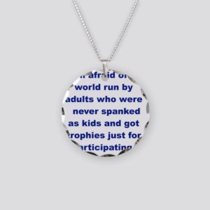 IM AFRAID OF A WORLD RUN ADU Necklace Circle Charm