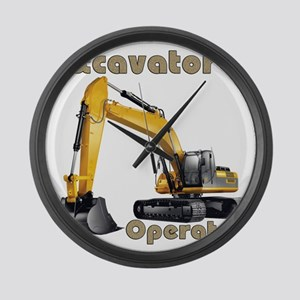 Excavator Large Wall Clock
