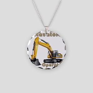 Excavator Necklace Circle Charm