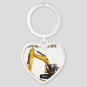 Excavator Heart Keychain