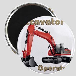 Red Excavator Magnet