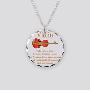 Violin Pitch Approximator Necklace Circle Charm