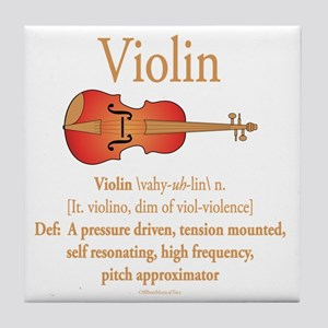 Violin Pitch Approximator Tile Coaster