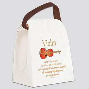 Violin Pitch Approximator Canvas Lunch Bag