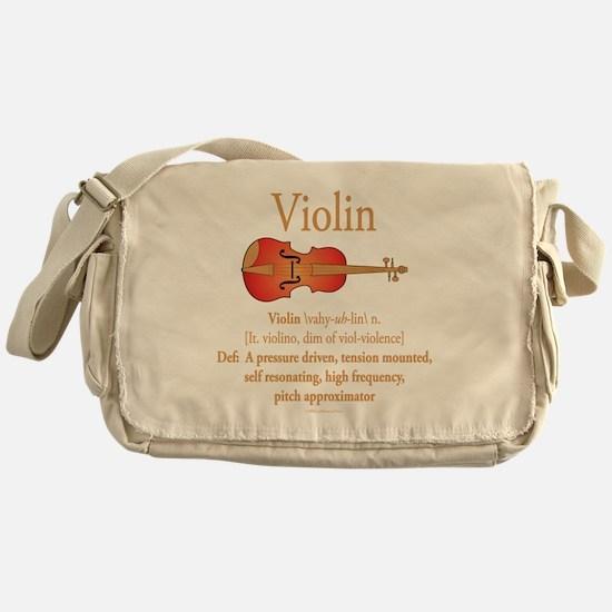 Violin Pitch Approximator Messenger Bag