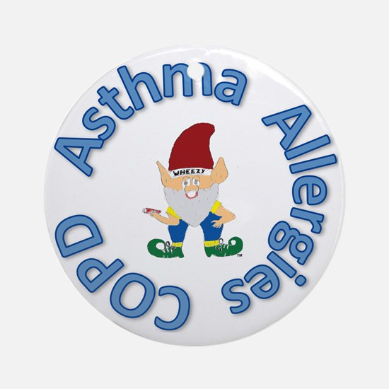 Asthma,Allergy,COPD in Blue Round Ornament