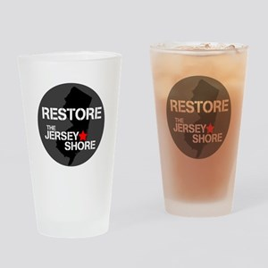 Restore The Jersey Shore Drinking Glass
