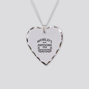 World's Most Awesome Step-Daughter Necklace Heart
