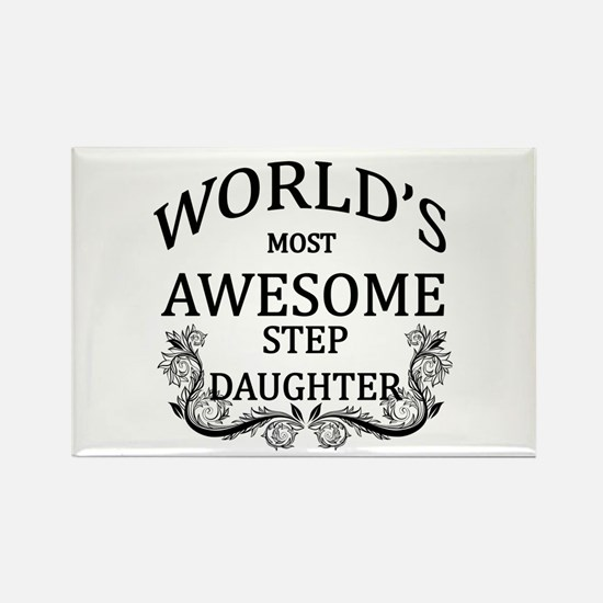 World's Most Awesome Step-Daughter Rectangle Magne