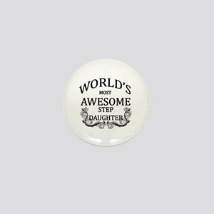 World's Most Awesome Step-Daughter Mini Button