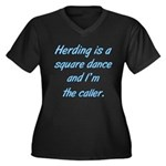 Herding is A Dance Women's Plus Size V-Neck Dark T