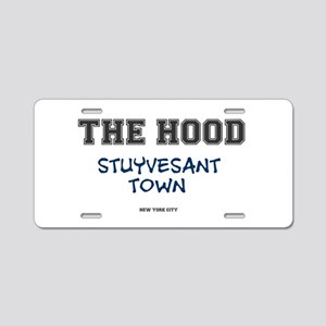 THE HOOD - STUYVESANT TOWN  Aluminum License Plate