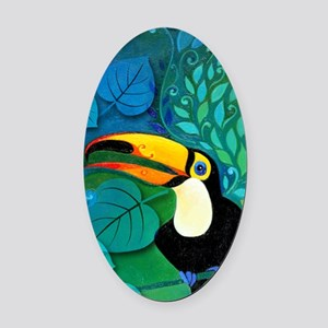 Toucan Oval Car Magnet