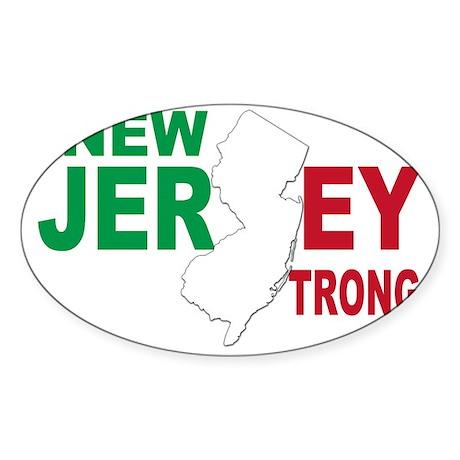 New jersey italian Sticker (Oval)