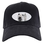 Keeshond Puppy (Drawing) Black Cap with Patch