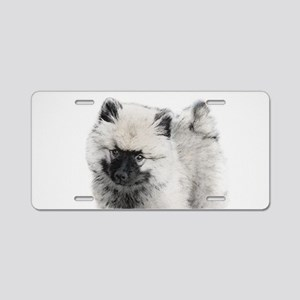 Keeshond Puppy (Drawing) Aluminum License Plate