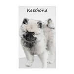 Keeshond Puppy (Drawing) Sticker (Rectangle 50 pk)