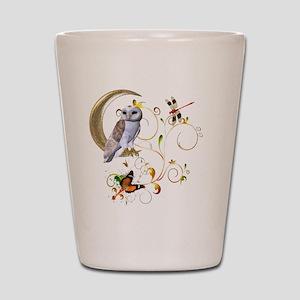 Owl Fantasy Shot Glass