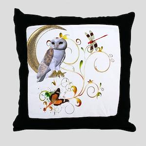 Owl Fantasy Throw Pillow