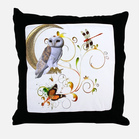 Owl Fantasy Throw Pillow