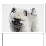 Keeshond Puppy (Drawing) Yard Sign