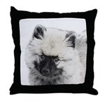 Keeshond Puppy (Drawing) Throw Pillow