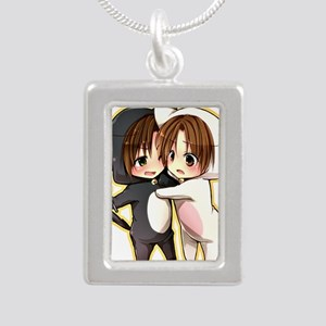 Kitty Brothers (Romano a Silver Portrait Necklace