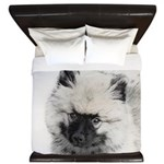 Keeshond Puppy (Drawing) King Duvet
