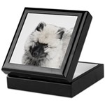 Keeshond Puppy (Drawing) Keepsake Box