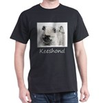 Keeshond Puppy (Drawing) Dark T-Shirt
